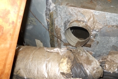 duct work disconnected in attic