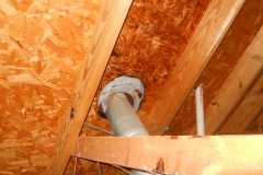 bad vent pipe installation charring roof