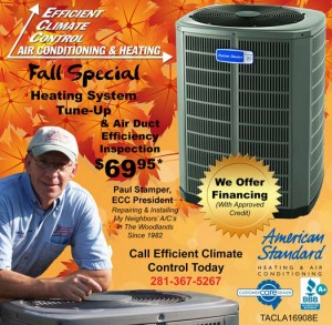 October A/C Specials Efficient Climate Control
